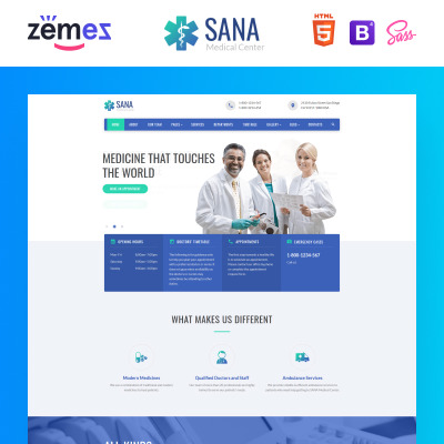medical healthcare templates templatemonster