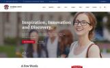 Modèle HTML adaptatif pour site d'université