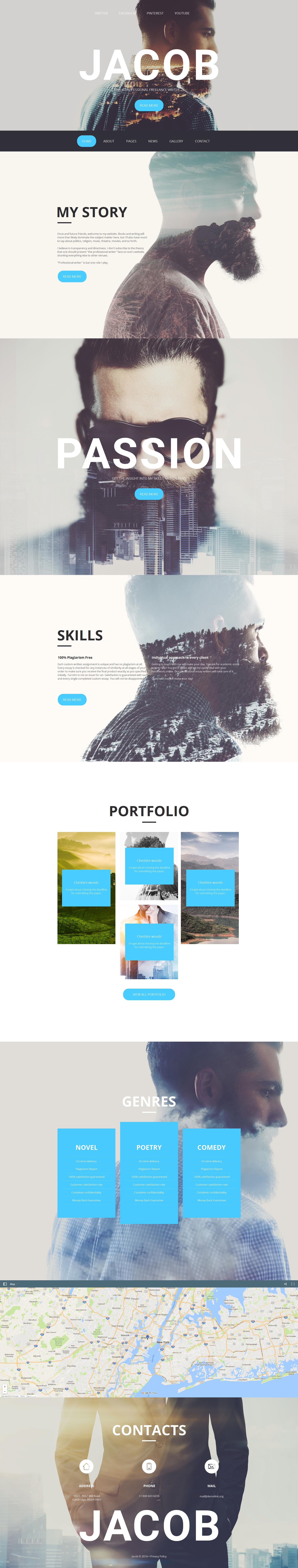 Moto CMS HTML Vorlage für Fotografen Portfolio #59084