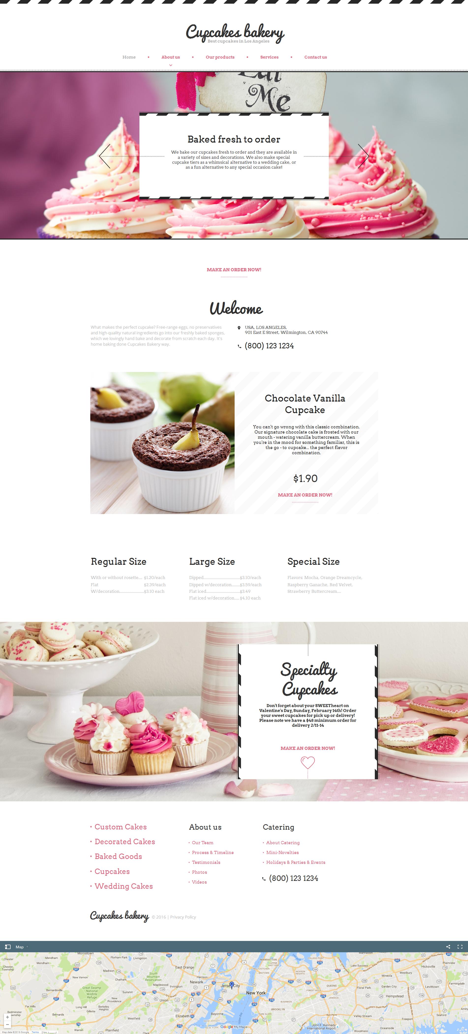 MotoCMS HTML шаблон на тему магазин солодощів №59083