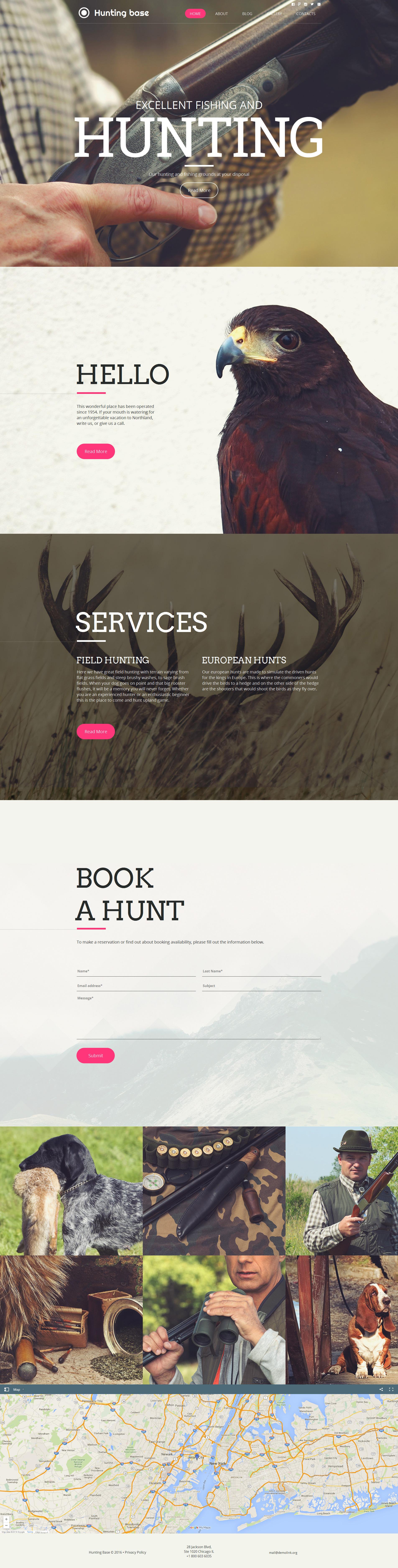 MotoCMS HTML шаблон №59076 на тему охота