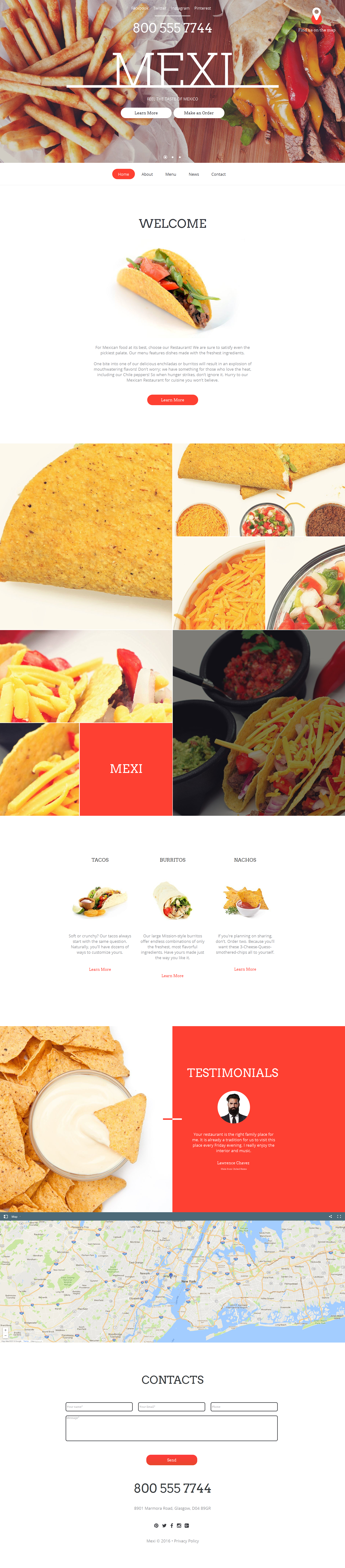 MotoCMS HTML шаблон №59081 на тему мексиканский ресторан
