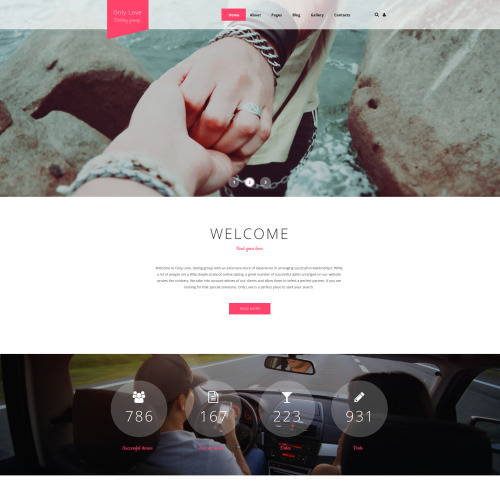Only Love Dating Page - Joomla! Template based on Bootstrap