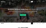 Plantilla Moto CMS 3  para Sitio de Negocio y Servicios