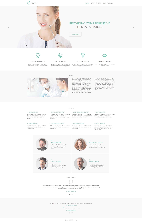 Plantilla Moto CMS HTML #59078 para Sitio de Odontología