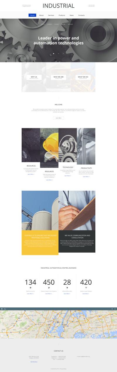 Plantilla Moto CMS HTML #59075 para Sitio de  para Sitio de Industria