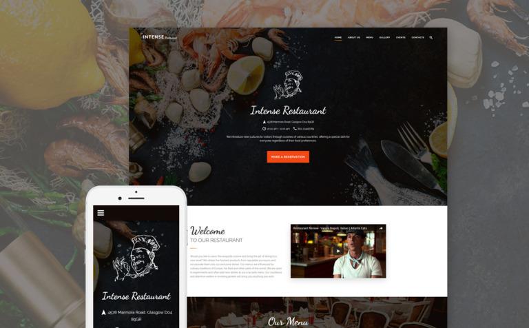 Plantilla Web #59048 para Sitio de Cafeterías y Restaurantes
