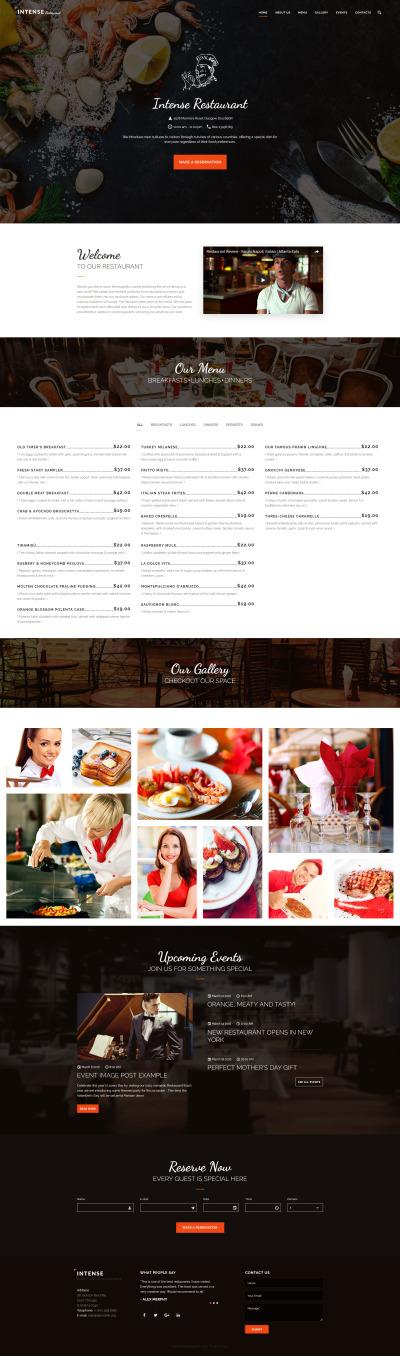 Responsive Plantilla Web #59048 para Sitio de  para Sitio de Cafeterías y Restaurantes