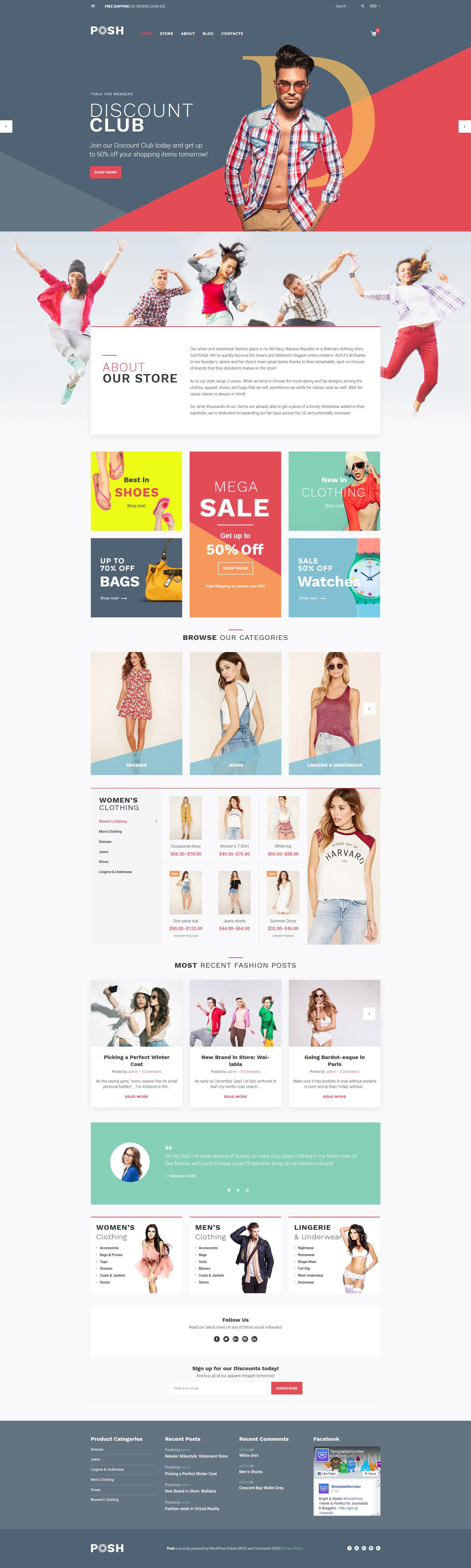 Posh - Urban Fashion WooCommerce Theme - screenshot