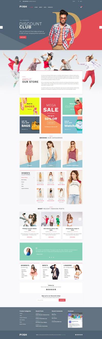 Posh - Urban Fashion WooCommerce Theme #59038