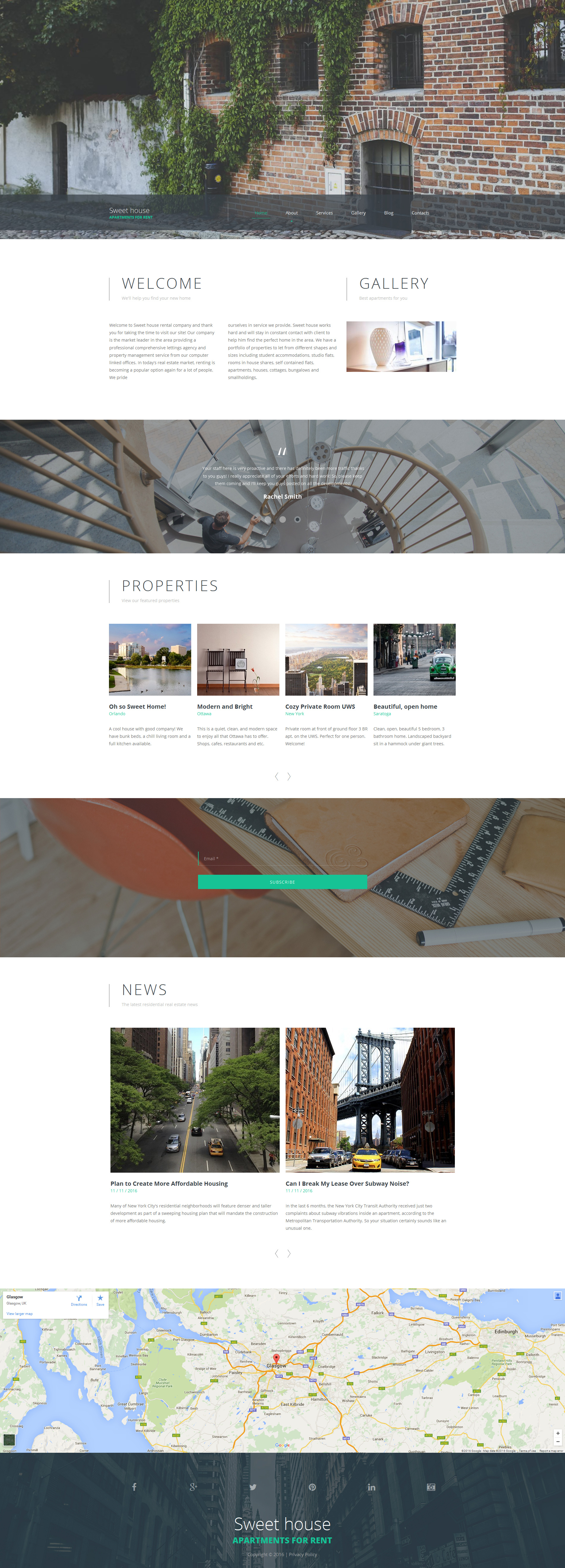 Real Estate Responsive Moto CMS 3 Template