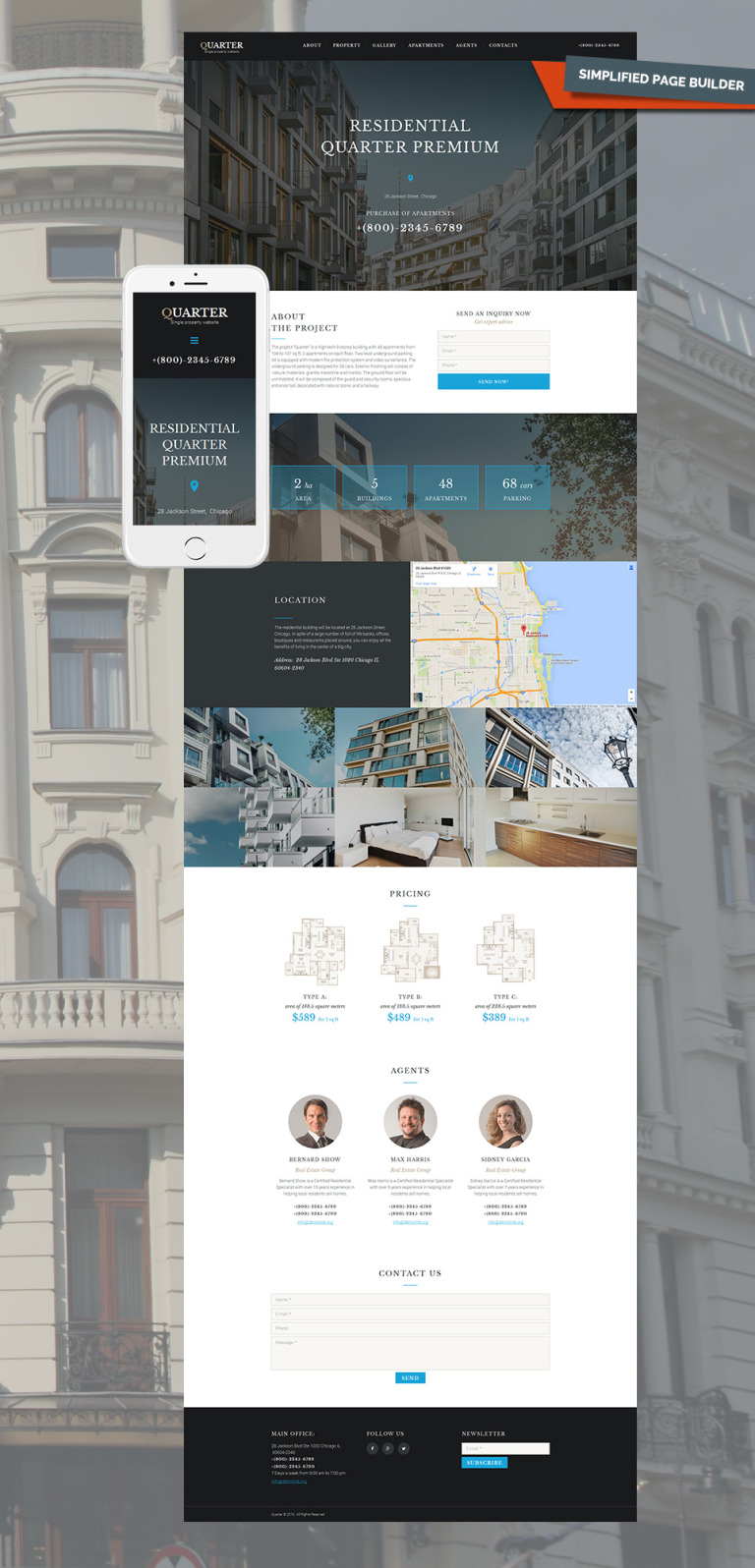 Real Estate Responsive Moto CMS 3 Template New Screenshots BIG