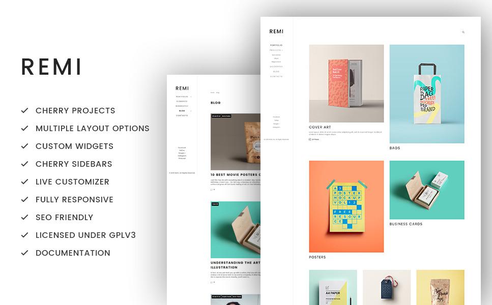 Remi - Photographer Portfolio WordPress Theme New Screenshots BIG