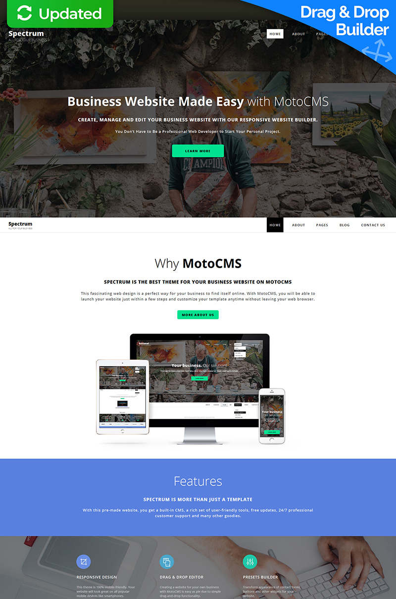 Responsive Spectrum Business Moto Cms 3 #59000