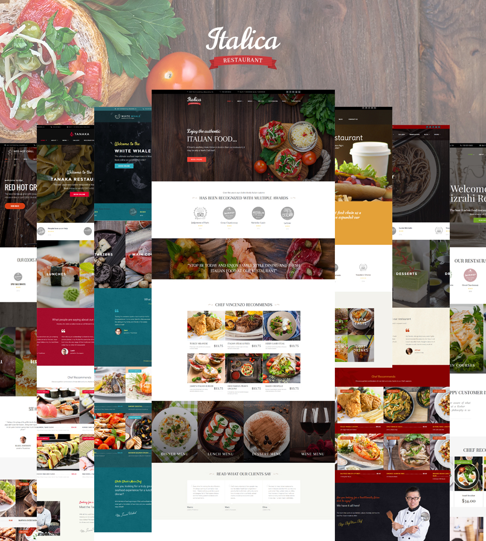 Responsive WordPress thema over Indiaas restaurant №59008