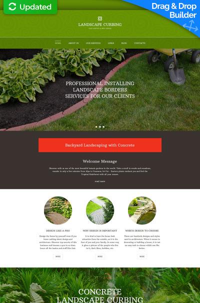 Responsives Moto CMS 3 Template für Landschaftsgestaltung  #59059