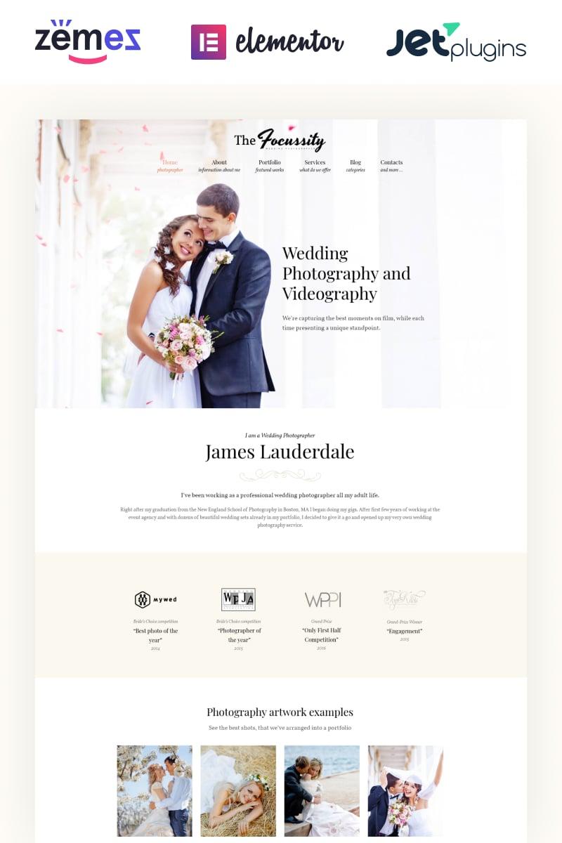 Responsivt Focussity - Wedding Photography WordPress-tema #59049 - skärmbild