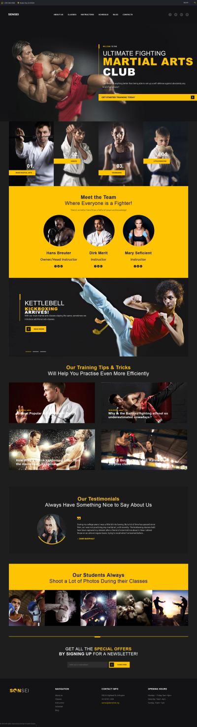 Responsywny motyw WordPress #59019 na temat: sztuki walki