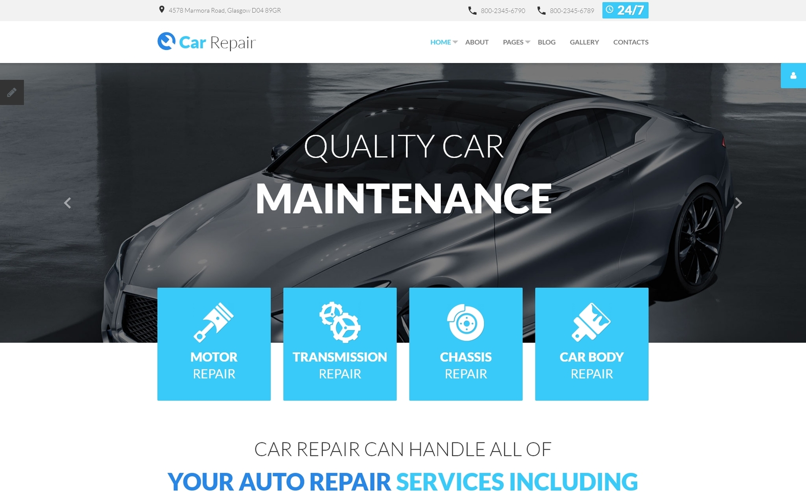 Responsywny szablon Joomla Car Repair #59094