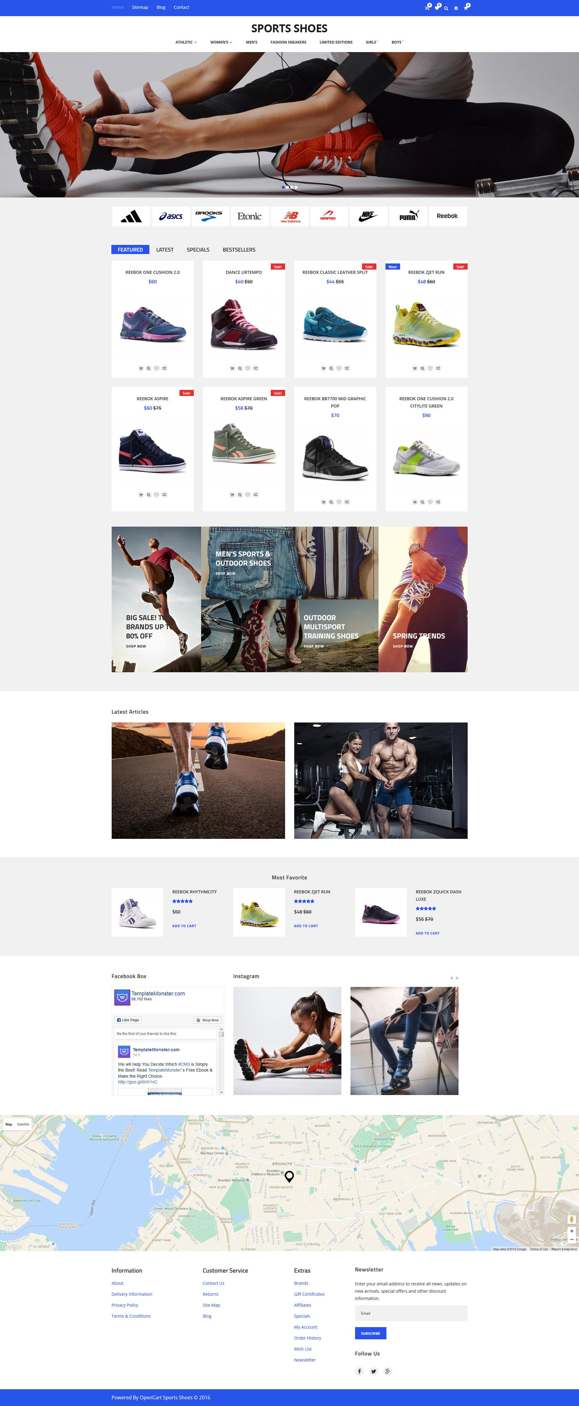 """Responzivní OpenCart šablona """"Sports Shoes"""" #59089 - screenshot"""