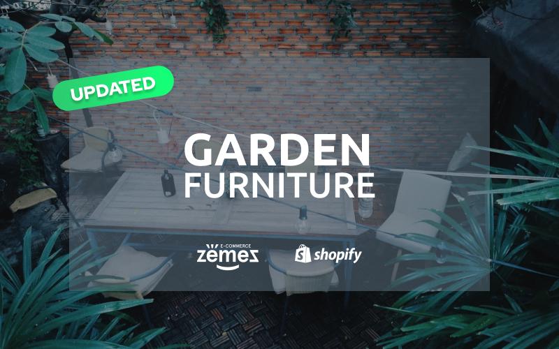"Responzivní Shopify motiv ""Garden Furniture - Furniture & Interior Design"" #59042"