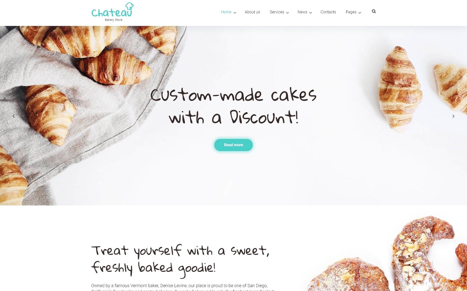 Reszponzív Chateau - Bakery and Receipts WordPress sablon 59016