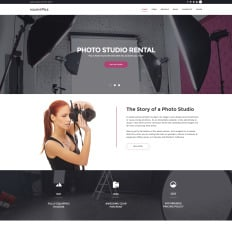parallax wordpress photography themes