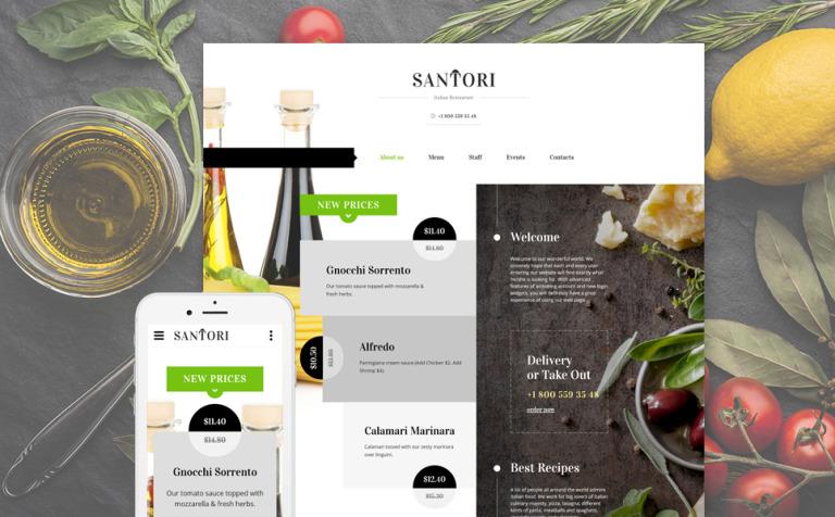 Santori Website Template