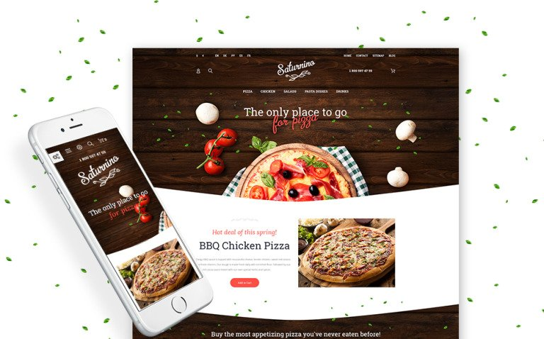 Saturnino - Pizza Restaurant PrestaShop Theme New Screenshots BIG