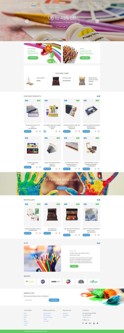 Адаптивный Shopify шаблон №59088 на тему арт-магазин