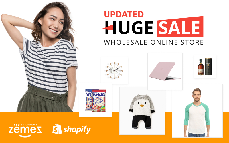 "Shopify Theme namens ""Huge Sale"" #59036 - Screenshot"
