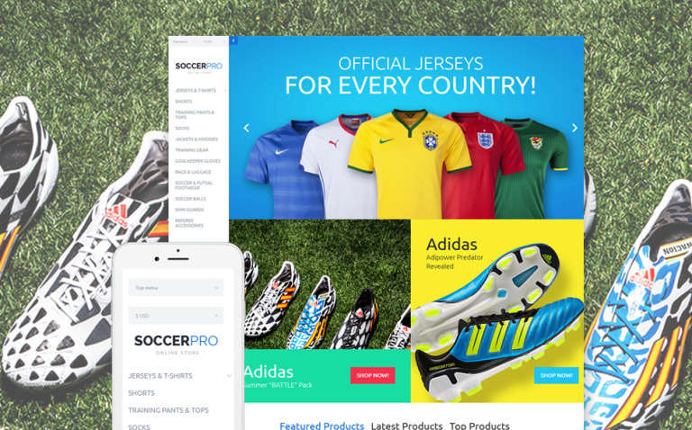 SoccerPRO VirtueMart Template New Screenshots BIG
