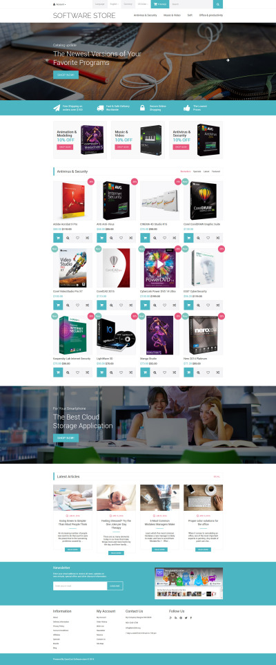 Software Store OpenCart Template #59003