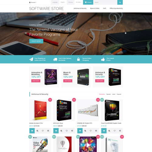 Software Store - OpenCart Template based on Bootstrap