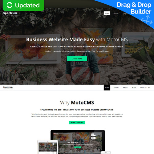 Spectrum  - MotoCMS 3 Template based on Bootstrap