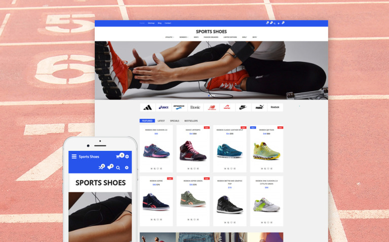 Sports Shoes OpenCart Template New Screenshots BIG
