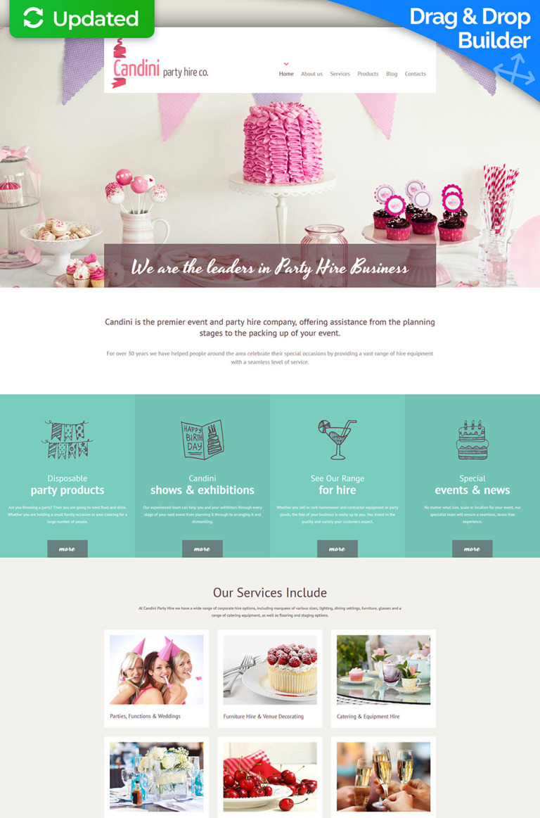 Sweet Shop Responsive Moto CMS 3 Template New Screenshots BIG
