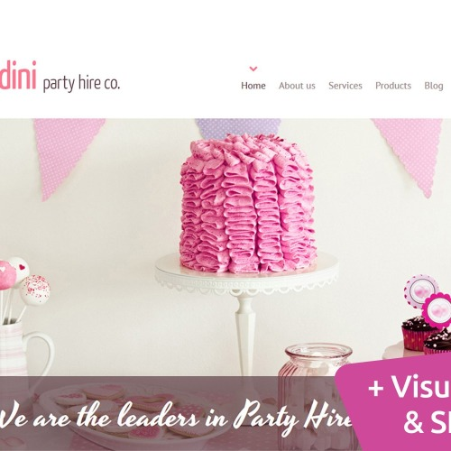 Candini Perty Line Co. - MotoCMS 3 Template based on Bootstrap