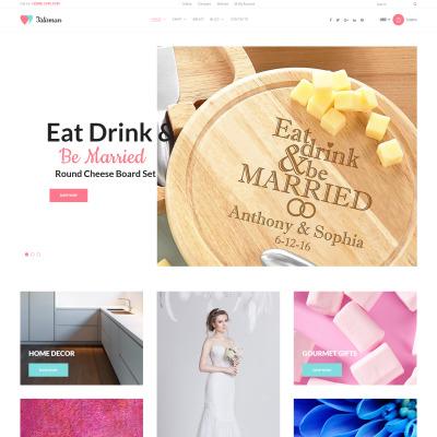 Thème WooCommerce adaptatif  pour boutique de cadeaux