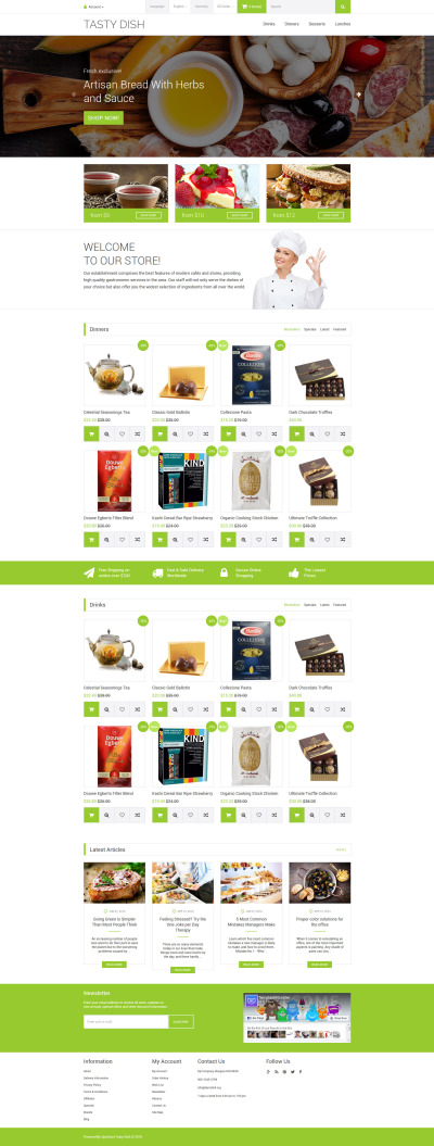Tasty Dish OpenCart Template #59017