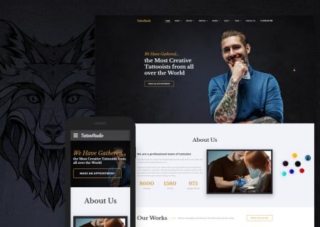 Tattoo Salon Responsive