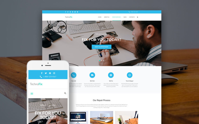 TechnoFix - Tech Repair Company Responsive WordPress Theme New Screenshots BIG