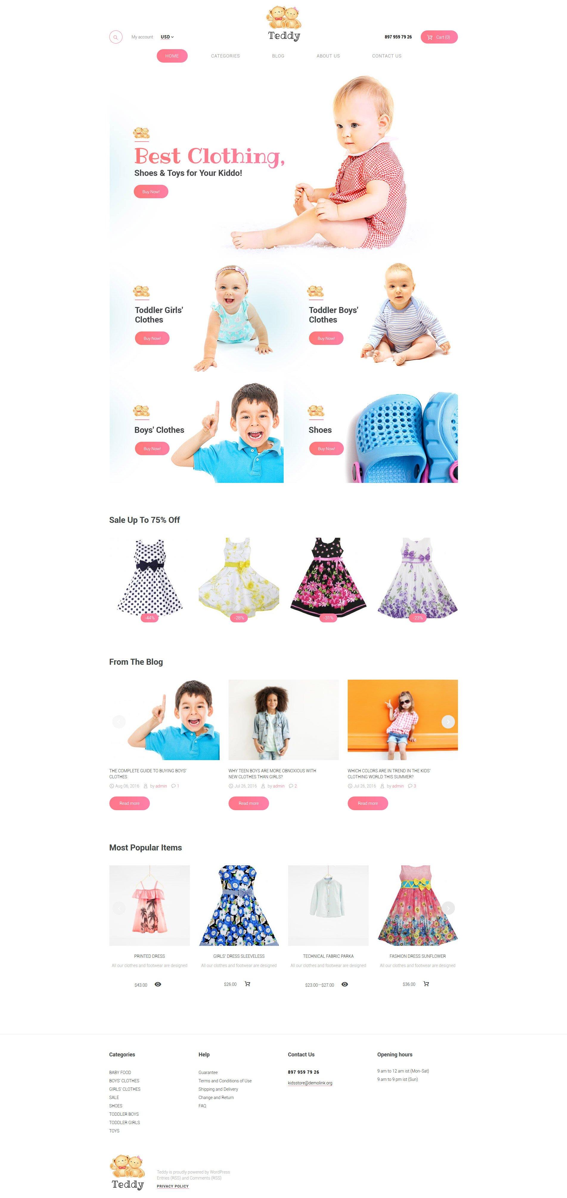 Teddy - Kids Shop WooCommerce Theme - screenshot