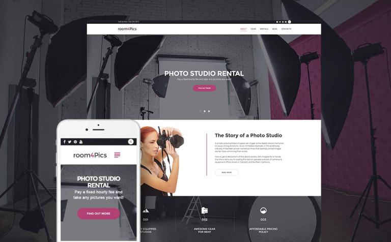 Tema de WordPress #59025 para Sitio de Estudios fotográficos