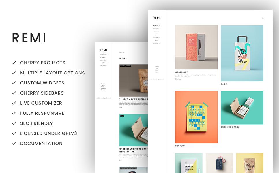 Tema de WordPress #59020 para Sitio de Portafolios de artistas