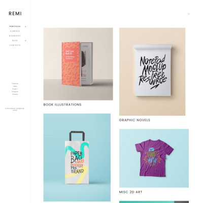 Tema de WordPress #68323 para Sitio de Portafolios de artistas