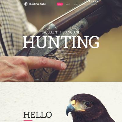 Hunting Tema Moto CMS HTML