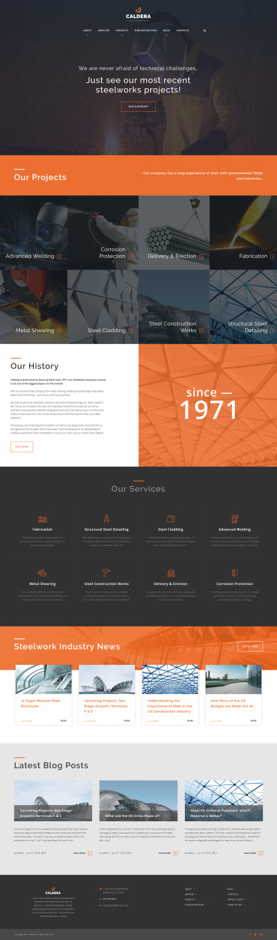 Thème WordPress adaptatif  pour site d'usine métallurgique #59027