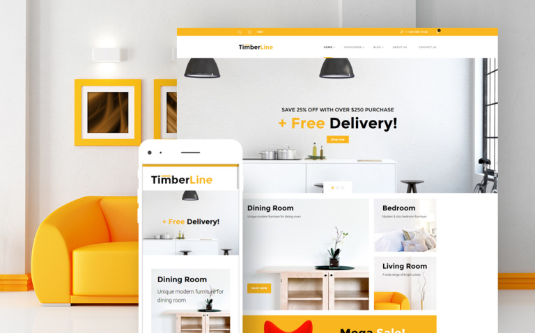 Timberline - Furniture Store WooCommerce Theme New Screenshots BIG