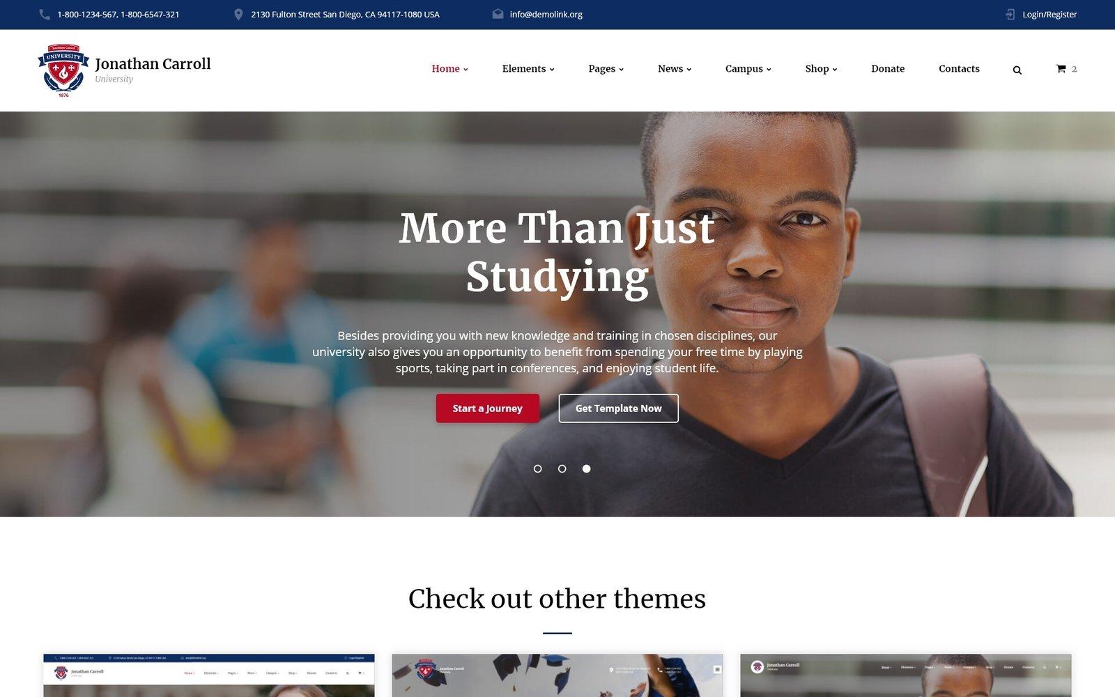 """University Responsive Website Template"" 响应式网页模板 #59029"